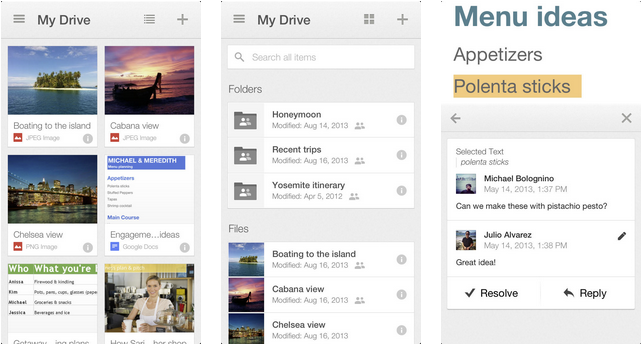 Google Drive App With Brand New Design Is Now Available For Download