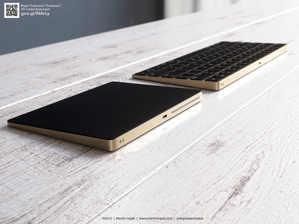 New Magic Keyboard And Magic Trackpad 2 Renders In Gold Ihash