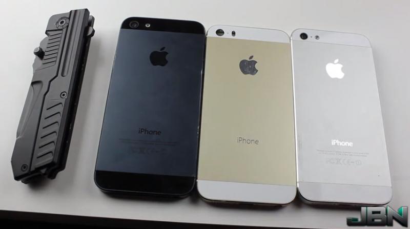 Gold IPhone 5S Vs 5 Scratch Test