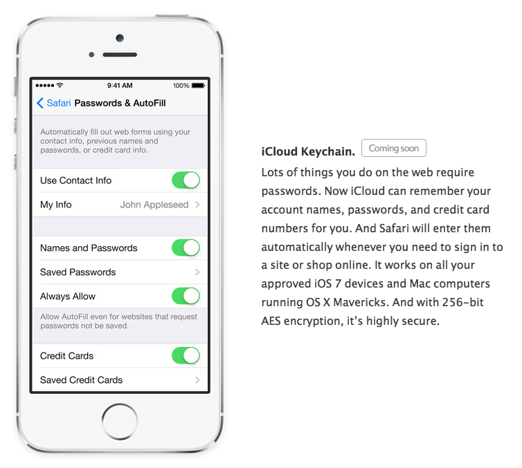 Apple Removes iCloud Keychain from iOS 7 GM - iHash