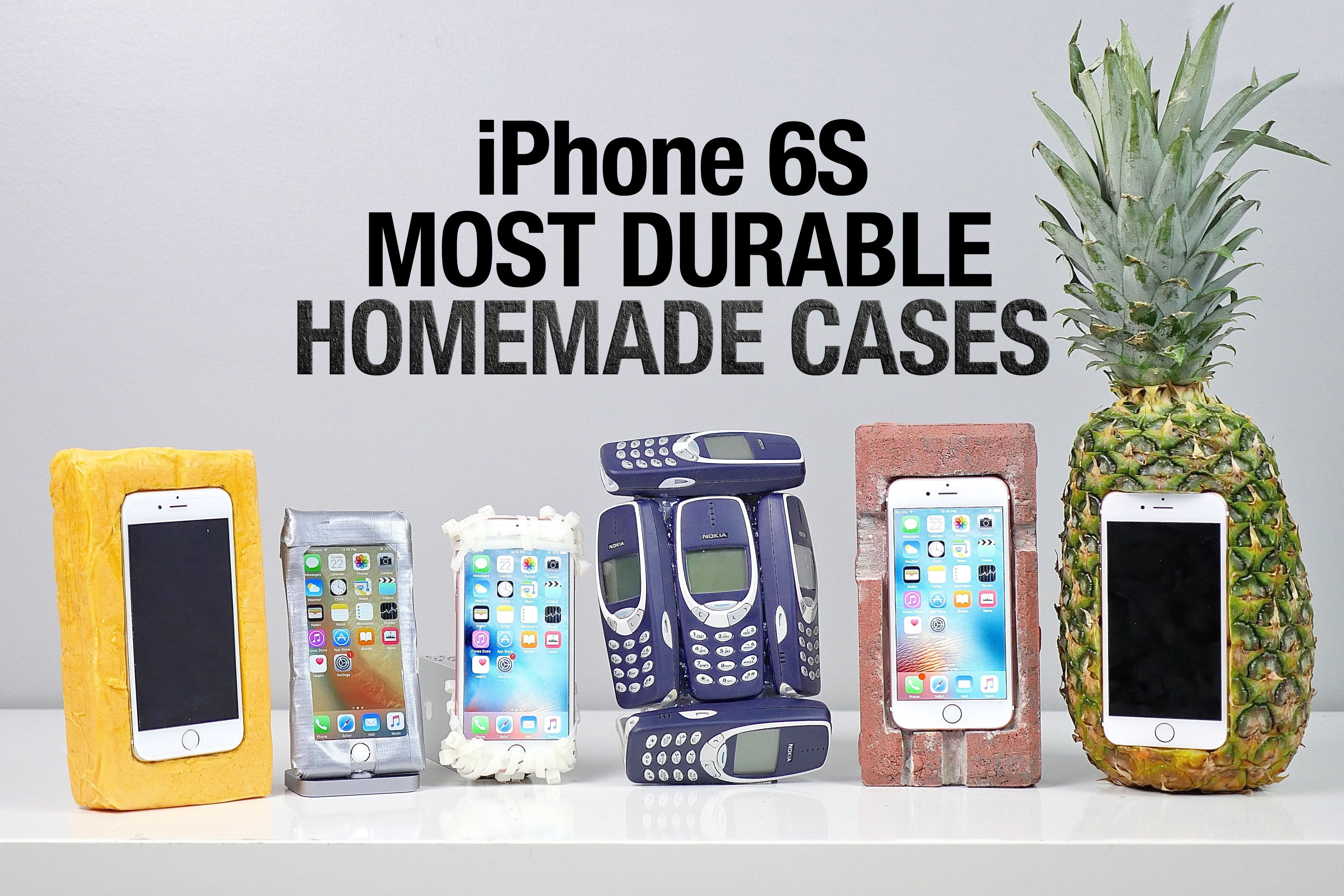 Most durable iphone 6s cases drop test homemade edition for Homemade iphone case