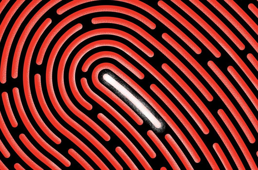 Illustration Of Fingerprint Closeup